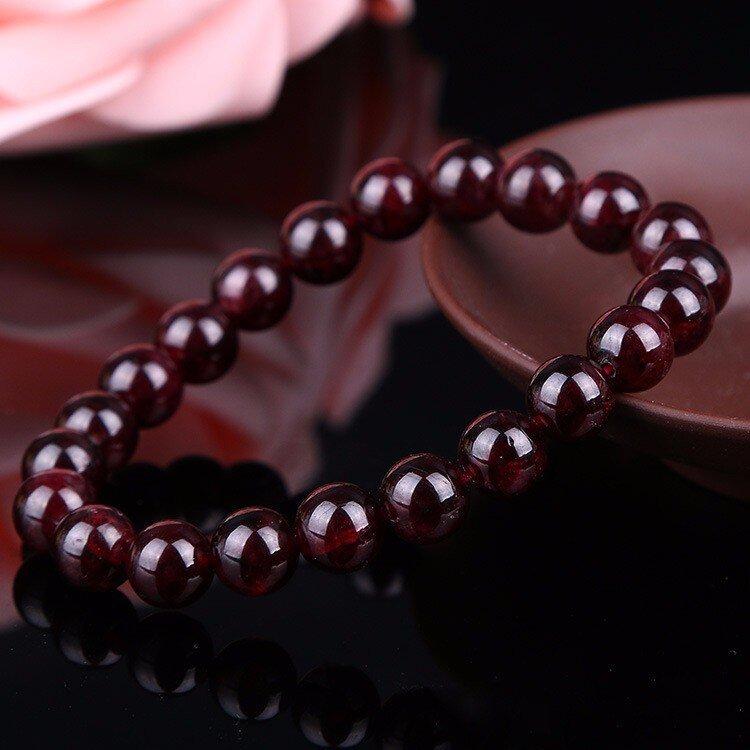 Sacral Navel Swadhishthana Chakra Garnet Bracelet